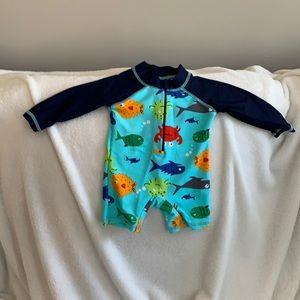 NWT 0-6 mos Swim Bodysuit With Zipper